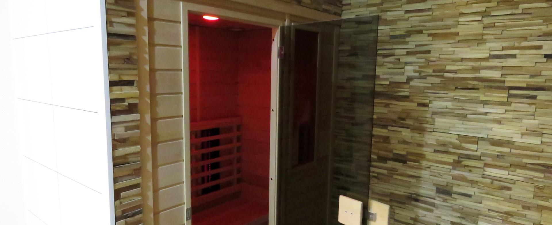 Infrarood sauna in een privé wellness