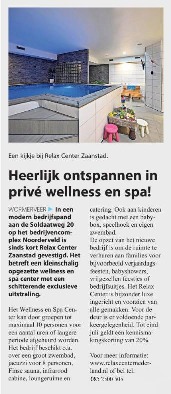 relax center zaanstad in de zaankanter