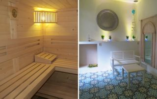 Relax center eemland prive sauna en lounge gedeelte